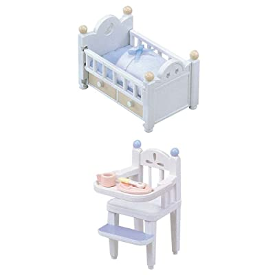 2 Different Sets - Baby Bed & High Chair (Japan Import): Toys & Games