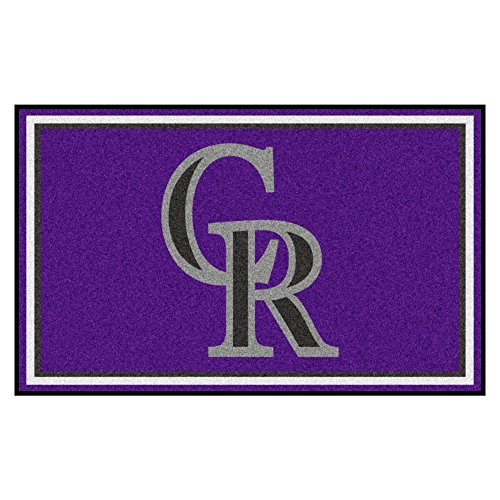 Plush Rockies Colorado (Fanmats MLB Colorado Rockies Nylon Face 4X6 Plush Rug)