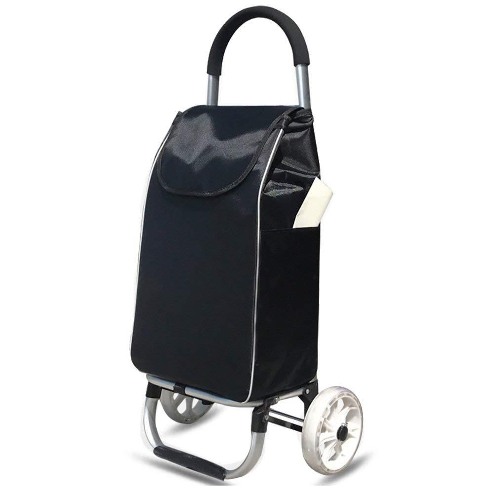 アルミショッピングカートスモールカートショッピングカートトロリーカークライミングビル用折りたたみ式トロリーA +(カラー:B) B07SM7LMX6 B