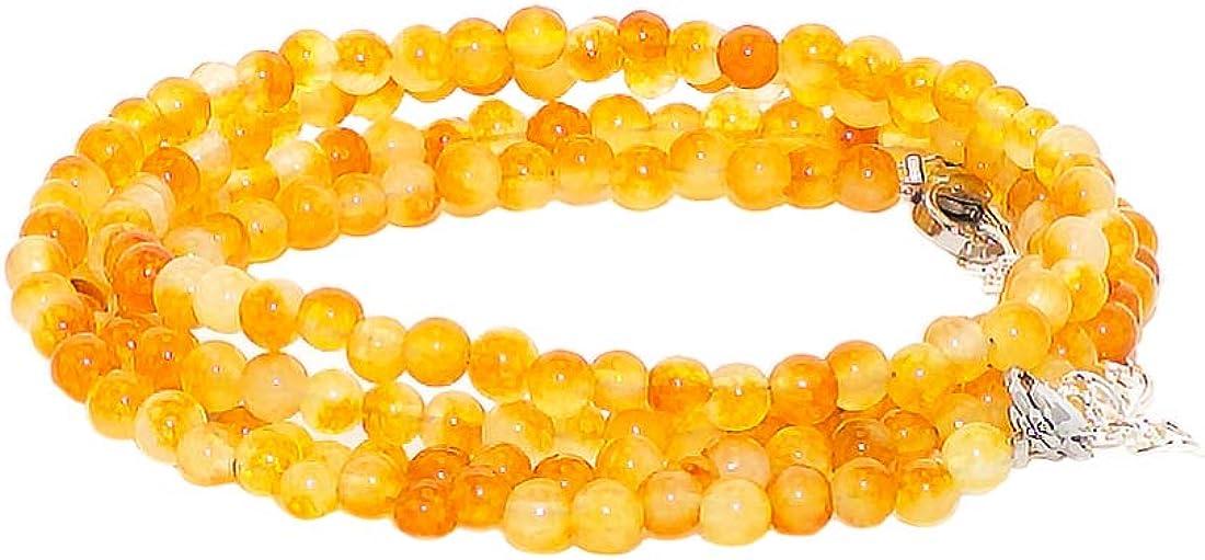 rainbow safety Pulsera 4 Hileras para Mujer Piedra Natural Amatista Ojo de Tigre Ágata Amazonita Jade Lapislázuli Perlas Coral BR
