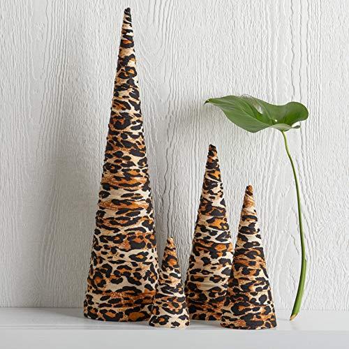 Trees Set of 4 Leopard Print, home decor, tabletop decor, table centerpiece, winter decoration, fall home decor, mantle decor