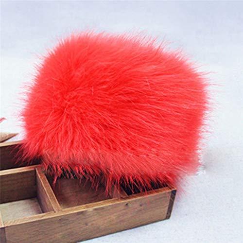 267bc48d32baf Amazon.com  Blue Stones Winter Casual Hat Headgear Headdress Fashion Women s  Hats Lady Fluff Cap Soft Warm Faux Fur Beanies Ear Protect Cute  Kitchen    ...