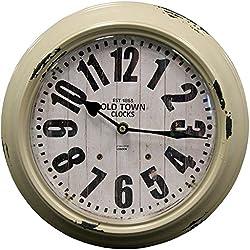 HDC International 05-0084 Metal Wall Clock, Gray, 12 Round