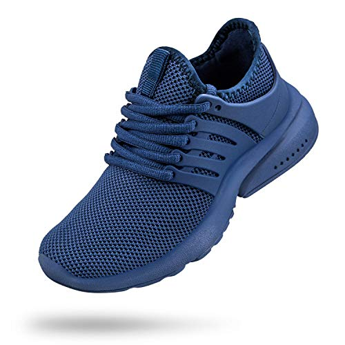 Troadlop Boys Running Shoes Fashion Athletic Sneakers for Boys Girls Blue Size 3.5 M US Big Kid