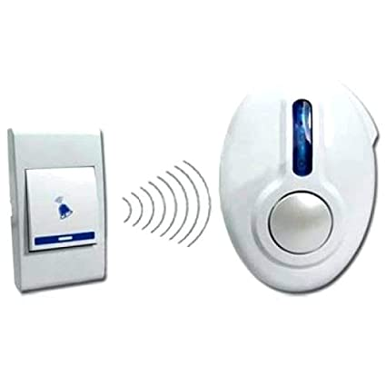 Sajani 32 Melody Musical Sound Cordless Doorbell, Wireless Remote Control Door Calling Bell (1 Pcs) - Random Color