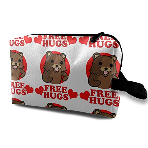 Toiletry Bag Bear Free Hugs Shaving Cosmetic Makeup Storage Travel Sundry Sewing Organizer Portable With Handle -