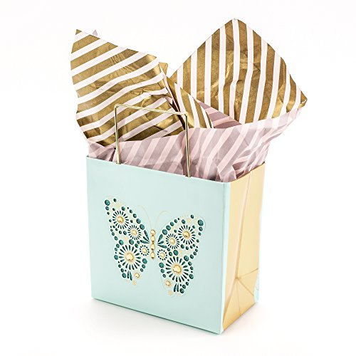 Hallmark Signature Small Gift Bag with Tissue Paper (Butterfly)