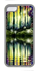 linJUN FENGTransparent TPU Cellphone Back Case Cover for iphone 4/4s Shell Skin for iphone 4/4s with Colorful Forest