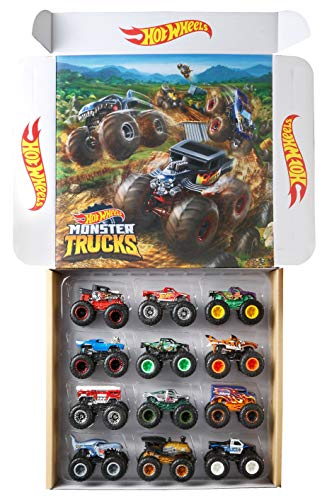 Hot Wheels Monster Trucks Ultimate Chaos 12 Pack, 1: 64 Vehicles [Amazon Exclusive] (Salt Monster Truck Water)
