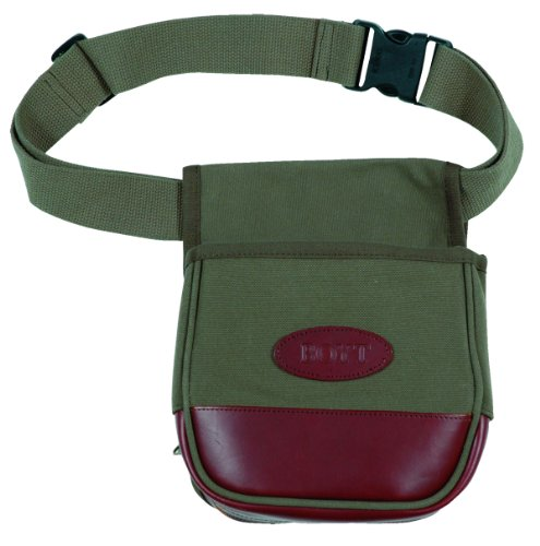 Boyt Harness Canvas and Leather Shell Pouch (OD Green)