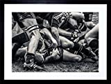 PHOTO SPORT RUGBY FOOTBALL SCRUM PLAYERS GAME FRAME ART PRINT PICTURE F12X829