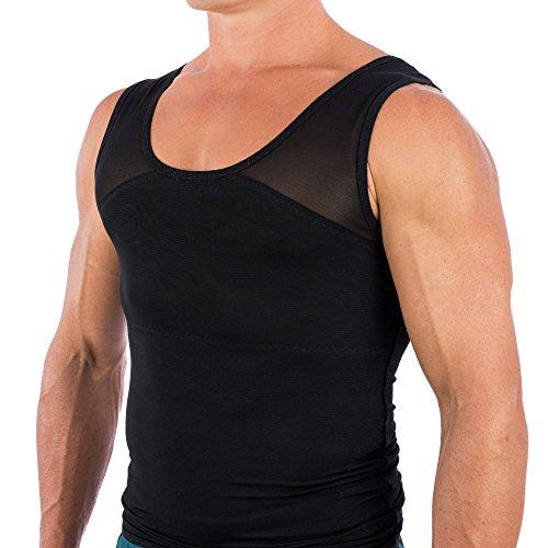 3e9c660247 Esteem Apparel Original Men s Chest Compression Shirt to Hide Gynecomastia  Moobs (Black
