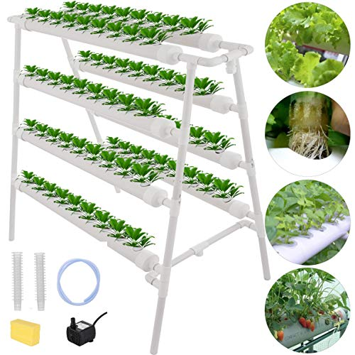DreamJoy Hydroponic Grow Kit 72 Sites 8 Pipe NFT...