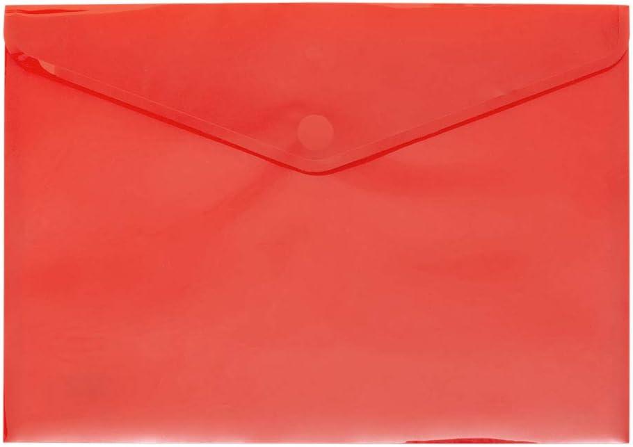 Grafopl/ás 04872360 - Carpetas sobre de pl/ástico tama/ño folio -12 unidades color amarillo