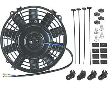 American V, 6 pulgadas Pequeño Slim eléctrico Ventilador 12 V Radiador Aceite Cooler ATV Mini tractor cortacésped: Amazon.es: Coche y moto