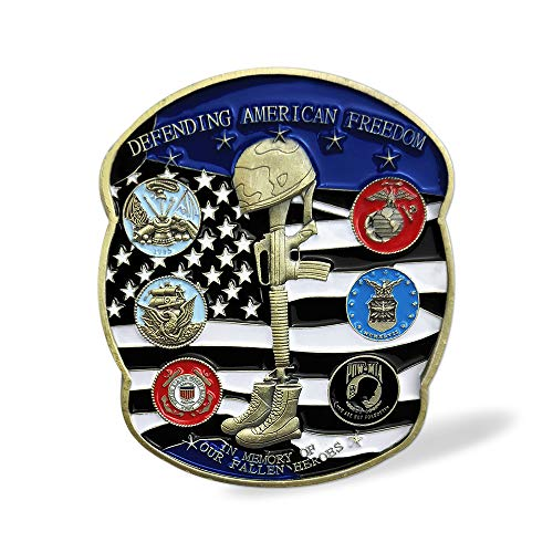 (US Proud Military Family Veterans Challenge Coin in Memory of Our Fallen Heroes)