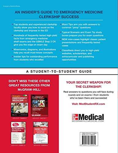 First Aid for the Emergency Medicine Clerkship, Third Edition (First Aid Series) - http://medicalbooks.filipinodoctors.org
