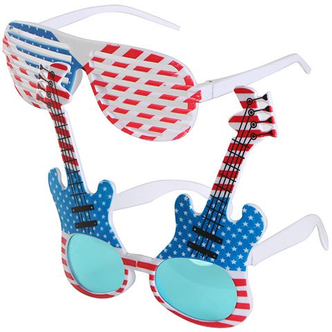 American Patriotic USA Flag United States of America Shades Fourth of July STYLE MAY VARY (1) Novelty Patriotic - Brown Doc Sunglasses