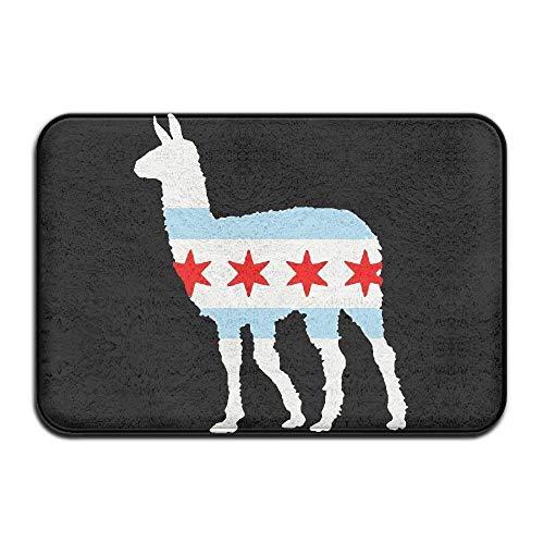 - Dx Fashion nuohaoshangmao Chicago City Flag Llama Non-Slip Indoor/Outdoor Floor Mat for Health and Wellness Bathroom Entrance Rug 23.6