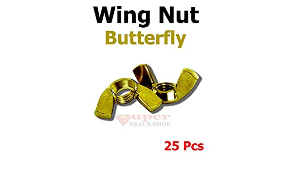 10-24 Wing Nuts Solid Brass Quantity 25