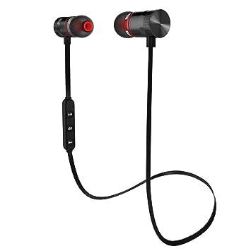 wscsr Bluetooth auriculares deporte auriculares inalámbricos estéreo auriculares in-ear con micrófono (negro): Amazon.es: Electrónica
