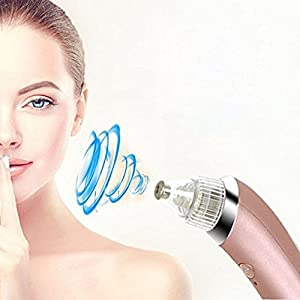 GordVE GVE039 Electronic Facial Pore Cleaner Nose Blackhead Cleaner Acne Remover Tool-- Rose gold