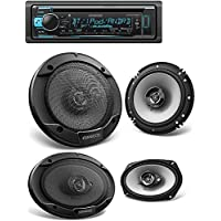 Kenwood KDC-BT368U In Dash CD Receiver with Built in Bluetooth KFC-1666S 600W Max (60W RMS) 6.5 KFC 2-Way Coaxial Car Speakers KFC6966S 6in x 9in Coaxial Speaker