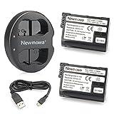 Newmowa EN-EL15 EN-EL15A Battery (2 pack) and Dual USB Charger for Nikon EN-EL15 EN-EL15A and Nikon 1 V1, D600, D610, D750,D800, D800E, D810, D7000, D7100,D7200