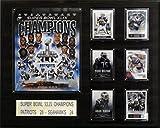 NFL New England Patriots Super Bowl XLIXI Champions Plaque, 16 x 20-Inch