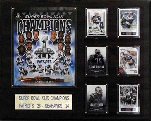 NFL New England Patriots Super Bowl XLIXI Champions Plaque, 16 x 20-Inch
