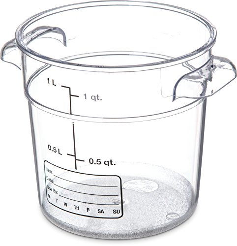 (Carlisle 1076107 StorPlus Polycarbonate Round Container, 1 Quart Capacity, Clear (Case of 12))