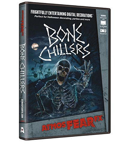 AtmosFX Bone Chillers Digital Decorations DVD for Halloween Holiday Projection Decorating -