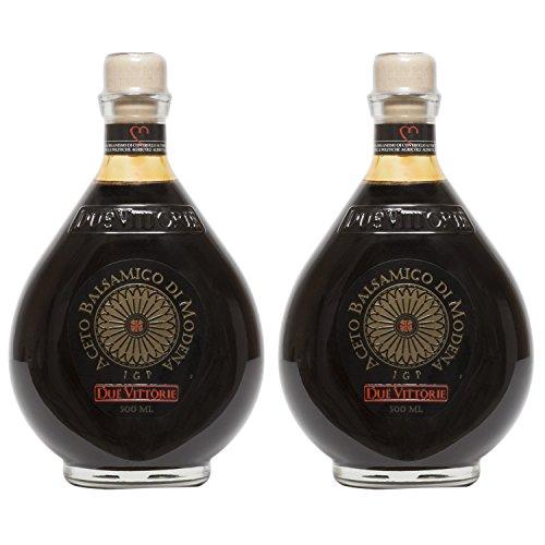 Due Vittorie Oro Gold Balsamic Vinegar of Modena. Highest score from The Consortium of Modena - 500ml (2 pack) (Best Masterchef Dish Ever)