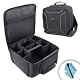 USA GEAR dSLR Camera Storage Sling Case with Waterproof Rain Cover and Room for Lenses , Flashes , Batteries , Chargers , Lens Hoods , Solar Filters and More - Works With Sony , Pentax and Panasonic Cameras - Bonus Cleaning Kit Included