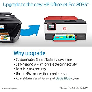HP OfficeJet Pro 6978 All-in-One Wireless Printer, HP Instant Ink & Amazon Dash Replenishment ready (T0F29A)
