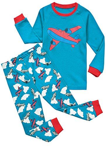 Babypajama Airplane Little Boys' Pajama Set Kids Nightwear Cotton 1-10 Years by Babypajama
