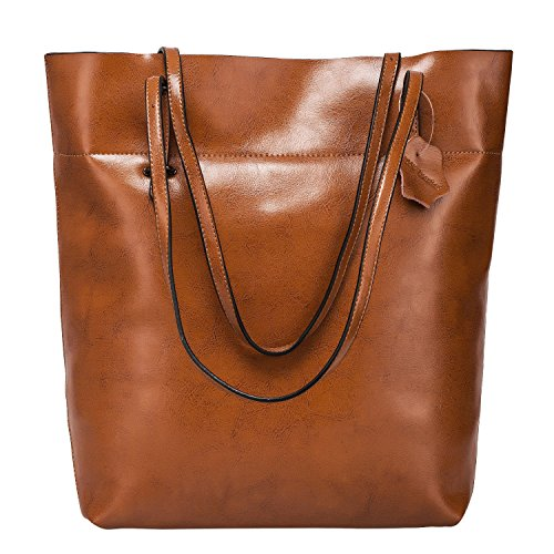 Big Spalla Genuine Leather Di Split Brown Del Capienza Dark Tote zone S Sacchetto Grande Vintage 7qHAg