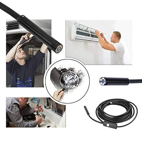 Jullyelegant Tel/éfono Micro USB 7mm Lente C/ámara endosc/ópica para tel/éfono Android Tel/éfono port/átil port/átil Endoscopio de 3,5 m Negro