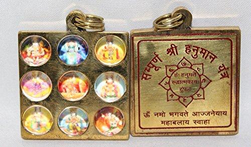 Odishbazaar Sampoorna Shri Hanuman Yantra Pendent / Locket in Brass