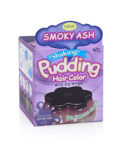 EZN Shaking Pudding Hair Dye Kit Color Smoky Ash Lavender 6.21 No Ammonia Self Hair Dye Kit Contain Keratin Korean beauty