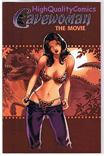 CAVEWOMAN The MOVIE #1, VF+, Limited, Budd Root, 2003, COA, T-rex, Dinosaur ()