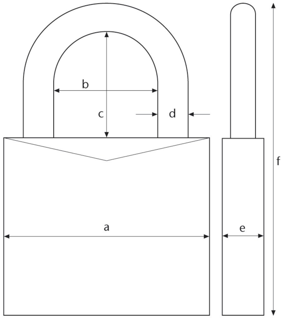 Abus 54TI//40HB63 KA5413 Candado Titalium de 40mm arco extra largo llaves iguales