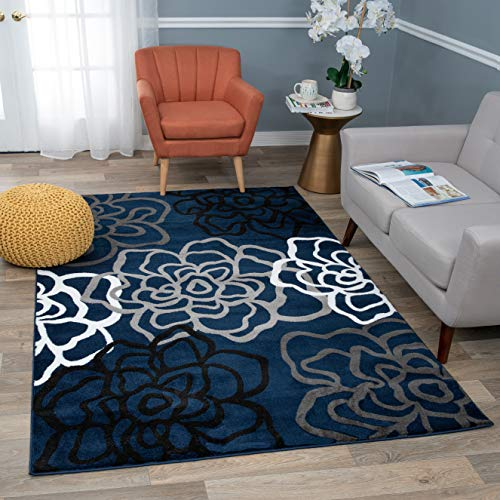(Rugshop Contemporary Modern Floral Flowers Area Rug, 3'3