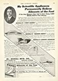 1912 Ad Dr William Mathias Scholl Announces His Scientific Appliances Foot Eazer Bunion Reducer - Original Vintage Advertisement
