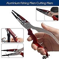 Cortador de aluminio Line quitar Hook Lure Pesca Alicates Tijeras Pesca útil fr