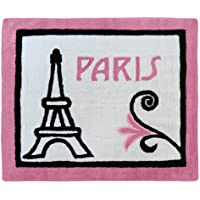 Sweet Jojo Designs Paris French Eiffel Tower Accent Floor Rug
