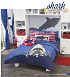 Kids Collection Shark Attack Reversible Comforter Set full