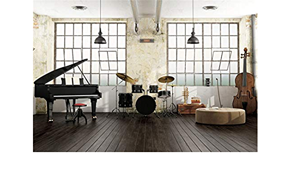 10x6.5ft Music Note Background Music Classroom Photo Backdrop Photography Props Room Murals LHFU526