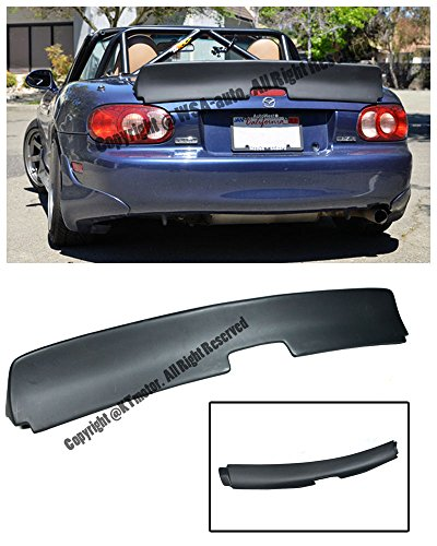 For 99-05 Mazda Miata NB Rocket Bunny Style FiberGlass Rear Trunk Lid Wing Spoiler Lip 1999 2000 2001 2002 2003 2004 2005 99 00 01 02 03 04 05 MX5 MX-5 (Mazda Miata Trunk)