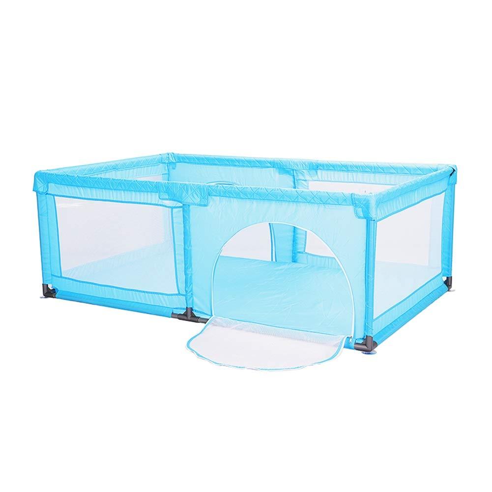 プレイ盤 エクストラハイベビーベビーサークル、アンチロールオーバー&アンチコリジョンキッズプレイゲームセンター用フェンス、120×190 cm、70 cm (色 : 青)  青 B07PFSR29N